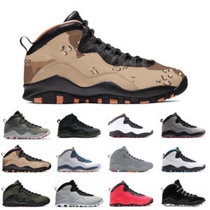 Cheap Sale 10 Desert Camo Westbrook Red Blue Tinker Cement Men Basketball Shoes 10s Cool Grey Infrared I'm Back Steel Sneakers