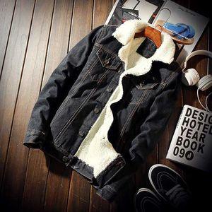 Winter Mens Denim Jackets Fashion Men Fleece Thick Warm Jeans Jacket Men Casual Slim Outwear Windbreaker Cowboy Coats 6XL