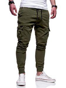 Pantalon rayé causales Cargo hommes de sport Pantalons Skinny Fitness Hommes Pantalons Mode Vêtements Drawstring Courir