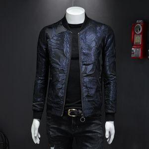 Explosion Models 2020 Autumn New Fashion Tide Baroque Style Digital Print Pattern Medou Baseball Collar Men's Jacket Size M-4XLmen's Coat