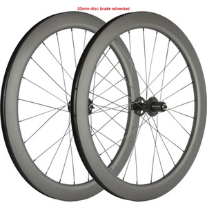 700C Clincher Disc Brake Carbon Wheels 55mm Depth * 25mm Wid Carbon Welles Road Bike UD Matte Racing Wheels CX3 Hub
