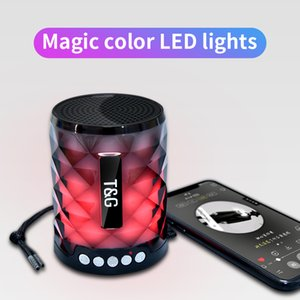 TG155 Colorful Led Bluetooth Speaker Portable Outdoor Bass Loudspeaker Wireless Mini Column Support TF card FM Stereo Hi-Fi Boxes