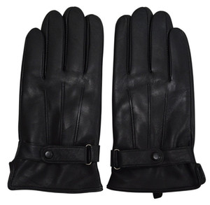 Genuine Sheepskin Leather Gloves For Men, Winter Warm Touchscreen Texting Cashmere Lined Driving Motorcycle Gloves