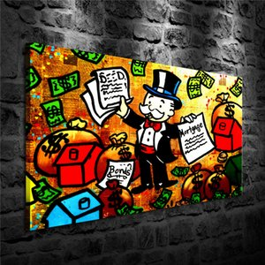 Alec Monopoly Deed Bond Mortgage,HD Canvas Printing New Home Decoration Art Painting (Unframed Framed)