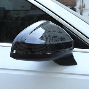 Kohlefaser Farbe Auto Rückspiegel Dekorative Abdeckung Türspiegel Rahmen Aufkleber Trim Für Audi A4 2017 Auto Zubehör