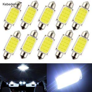 مصابيح kebedemm 10PCS / LOT 31MM 36MM 39MM 41mm والسيارات COB 1.5W DC12V السيارة الداخلية LED لمبات الداخلية مصباح أضواء قبة لوحة لمبة