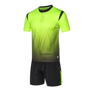 2018 New Adult Personality Kids Soccer Jersey Football Set Kint Men child Futbol Training Uniforms Set De Foot Shorts