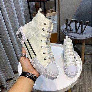 Dior b23 shoes 2020 new Top hochwertiger 19SS Blumen technische Leinwand B2 B24 schräg Männer Marke High-Top Sneaker B2 Marke Designerschuh l0926