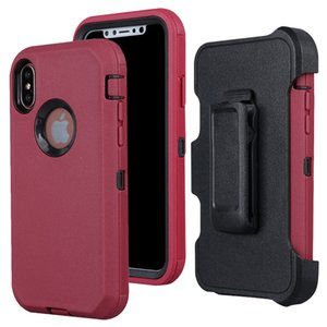 Funda para iPhone XS Max prueba de golpes, Touch 3 en 1 de Altas Prestaciones Funda caso clip de la correa + armadura protectora cubierta pata de cabra
