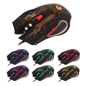 5500DPI LED Backlight Optical 6D USB Wired Gaming Mouse Ergonomic Pro Gamer Computer Games Mice For PC Laptop 2017 High Quality