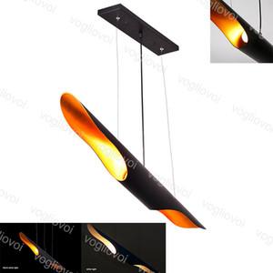Modern Pendant Lamps Tubular Nordic Retro Black Aluminum 110V 220V E27 For Living Room Bar shop Restaurant Decorative hanging lamp DHL