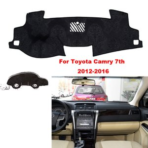 Car styling For Toyota Camry 12-16 Interior Dashboard Pad Cover Dash Mat Sticker Anti-Sun Velvet Instrument