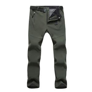 Nibesser Yepyeni Erkek Pantolon Moda erkek Kış Kalınlaşmak İnce Yumuşak Polar Termal Su Geçirmez Açık Pantolon Yüksek Bel Pantolon MX190717