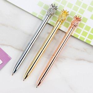 Металлический корпус шариковая ручка с Ананас Top Gel перо для офиса Бизнес Подарок Золото Серебро