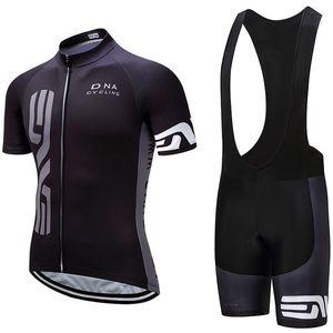ADN équipe cycliste Cyclisme À Manches Courtes jersey cuissard ensembles Nouveaux Hommes Respirant vtt vélo Montagne Vélo vêtements U80825