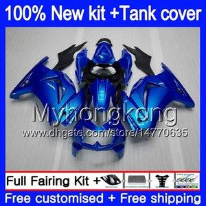 + 탱크 KAWASAKI ZX250R EX250 ZX250R 08 09 10 11 12 펄 블루 201MY.29 EX250 ZX 250R EX 250 EX250R 2008 2009 2010 2011 2012 바람막이