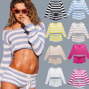 AIUJXK estate maglia Strap canotta e shorts 2 due pezzi Set Beach Donne Sexy Stile Tuta casuale Camis E Hotpant Suit