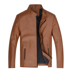 Men's wallet New Autumn and Winter Men's solid motorcycle jacket bomber jacket windproof windproof