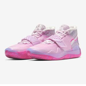 2020 Yeni Yakınlaştırma KD 12 EP Teyzem neler The Anniversary Üniversitesi 12s XII Oreo Basketbol Ayakkabı 90s Antrasit Kevin Durant PE Sneakers