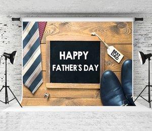 Rêve 7x5ft Bonne fête des pères Backdrop en bois Tableau noir Photographie Contexte Pères Chaussures Décor bois Backdrops Shoot Stduio Prop