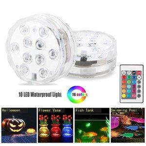 New Aquário colorido LED mergulho Luzes submersíveis Fish Tank Decorat Clara Luz Waterproof Underwater eletrônico Candle Lamp SY0406