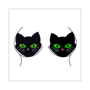 Cool Fashion Black Cat torace Gioielli Scala farfalla Leopard print Immagine del corpo trucco di cristallo del partito Festival Temporary Tattoo Sticker design