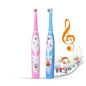 Plak IPX6 Su geçirmez Ücretsiz Kargo Hızlı Removal Yumuşak Fırça Başkanı ile Prooral Çocuk Müzik Diş Fırçası 2206