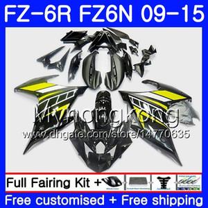 Cuerpo para YAMAHA FZ6N FZ6 R FZ 6N FZ6R 09 10 11 12 13 14 15 Negro amarillo caliente 239HM.13 FZ-6R FZ 6R 2009 2010 2011 2012 2014 2014 2015 Carenados