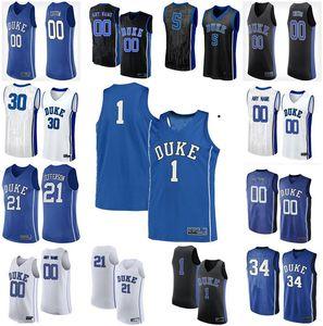 Duke Blue Devils Formalar Joey Baker Jersey Mike Buckmire Vernon Carey Javin Delaurier Goldwire 2020 Basketbol Formalar Erkek Özel Dikişli