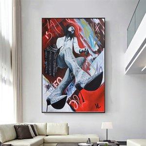 Urbano Perspectives Tela Ritratto Su Colori Piede scuri poster arte astratta pittura Immagine Stampa Soggiorno Camera da letto Decor