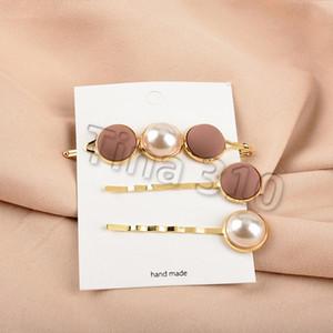 Clips nuova Pearl Metallo Oro Colore dei capelli Pin di Bobby Barrette Hairband Hairpin copricapo donne ragazze Lady capelli StylingT2C5080