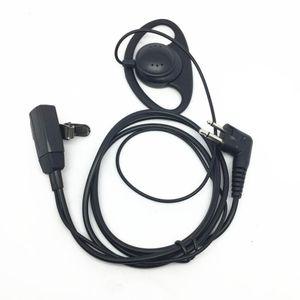 2 PIN grande PTT micrófono Motorola GP88 GP300 GP2000 CT150 P040 del auricular del auricular de radio interfono auricular walkie talkie