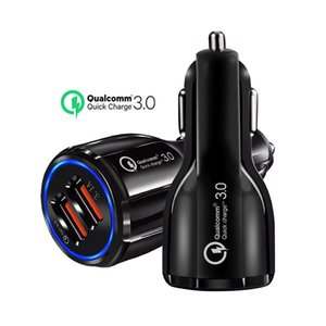 6A Fast Charger Car Charger 5V Dual USB Fast Charging Adapter for iPhone Samsung Huawei Metro phones OPP package