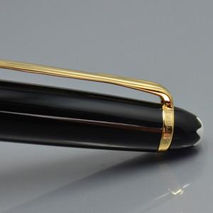Clásico de lujo 163 resina estilográfica papelería escolar oficina monte marca 14 K pluma de tinta de tinta de escritura con número de serie el mejor regalo