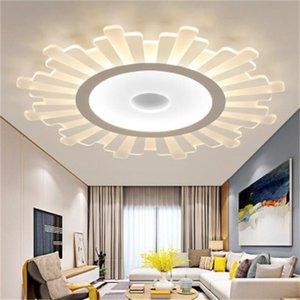 Nueva llevó luces de techo de acrílico creativa ronda lámpara de techo de sala de ultra-fina de los niños que viven la vida Intelligent LED lámparas de salas