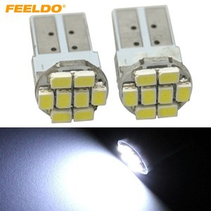 FEELDO 50PCS Мощность белый T10 194 168 1206/3528 8SMD Wdege автомобиля Боковые светодиодные лампы # 1059
