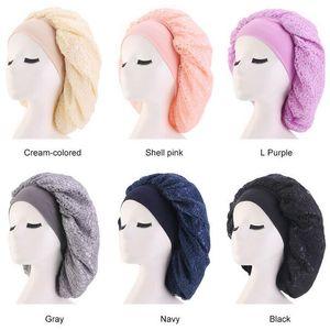 Imitieren Seide Mesh Bonnet Cap Nacht Schlaf Hut Muslimischen Stil Caps Hüte Haarausfall Cap Frauen Mutterschaft Hut Chemotherapie Beanies