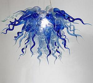 데일 치 훌리 (Dale Chihuly) 스타일 불어 유리 샹들리에 홈 인테리어 실내 조명 장식 LED 매달려 체인 샹들리에 현대 펜던트 램프