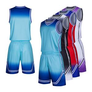 Basketball Uniform Mens Basketball Clothes Sets Custom DIY Quick Dry Training Sportswear Male College Jerseys Suit