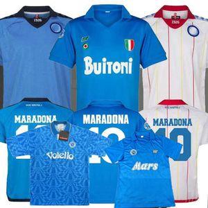 Retro clásico 1982 1983 1987 1988 1989 1991 1992 1993 camiseta de fútbol Napoli 87/88/89 91/93 MARADONA fútbol Deportes camisa S-2XL