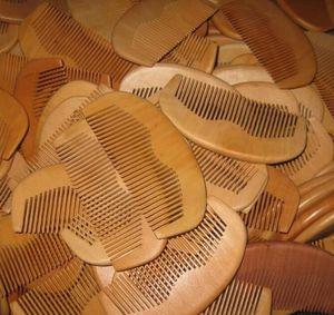 Pettine di legno pettine della pettine della barba del pettine di legno naturale 1pcs 11.5 * 5.5 * 1cm trasporto libero