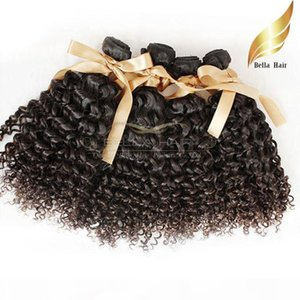 "Mongolian hair Extensions 8""-30"" 4 pcs lot Kinky Curly Hair Natural Color 8A DHL Free Shipping Bellahair"