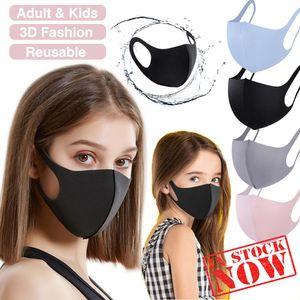 4 Color Fashion Designer 3D Face Mouth Mask Black Pink Gray Dustproof Mask For Adult & Children Breathing Reusable Washable Facial Mask