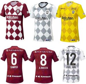 fast ship 2020 2021 Vissel Soccer Jerseys 8 A.INIESTA 7 DAVID VILLA MITA 10 PODOLSKI Custom Home Red Away White Football Shirt