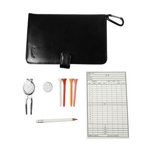 Golf Score Card Holder Caso con portamatite Golf Tees Back Pocket Wallet Scorecards