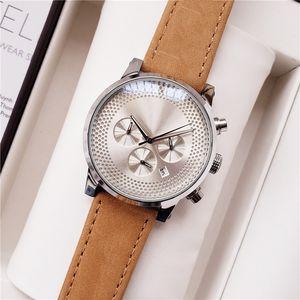 Swiss Luxury Watches Herrenuhr Time Walker mont Sub Dial Work Funktions Chronograph Quarzuhren Daydate Waterproof Montre De Luxe
