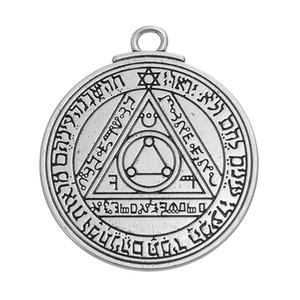 도매 - 태양의 Pentacle 솔로몬의 열쇠 부적 펜던트 보석 우표 알파벳 종교 항목 빈티지 보석