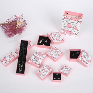 [DDisplay] Issey style boîte rose géométrie irrégulière Bijoux, Bague Tendance cadeau cas, boîte à bijoux spéciale pour collier, pendentif affichage festival