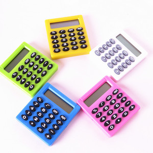 Lindo digital de bolsillo calculadora electrónica caramelo colorea Estudiante Min Cálculo de Baterías Calculadora Home Office Supplies regalo TA578