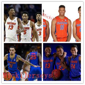 Пользовательской Флорида Gators Баскетбол Джерси 10 Дориана Финни-Смит 25 Чендлер Парсонс 23 Брэдли Бил 50 Хасль Флорида Gators Джерси